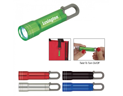 Mini Aluminum Flashlight With Carabiner