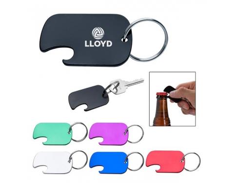 Dog Tag Bottle Opener Key Ring