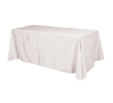 Flat 4-sided Table Cover - fits 8' table (100% Polyester)