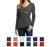 Port & Company Ladies' Long Sleeve Fan Favorite V-Neck Tee