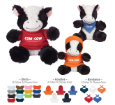 """6"""" Plush Cuddly Cow With Shirt"""