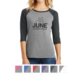 District Made® Ladies' Perfect Tri™ 3/4-Sleeve Raglan