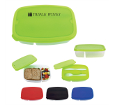 2-Section Lunch Container With Custom Handle Box