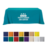 Flat Poly/Cotton 4-sided Table Cover - fits 8' table