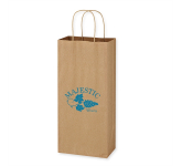 "Kraft Paper Brown Wine Bag - 5.25"" x 13"""