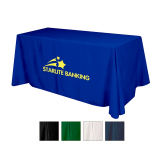 Flat 3-sided Table Cover - fits 6' table (100% Polyester)