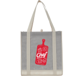 Two-Tone Non-Woven Little Grocery Tote