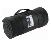 Roll-Up Fleece Blanket with Carrying Strap