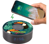 Bluetooth Speaker Clock w/Wireless Charging