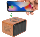 Wood Bluetooth Speaker with Wireless Charging Pad