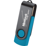 Rotate Black Clip Flash Drive 2GB
