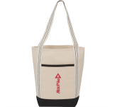 Topsail Striped 10oz Cotton Canvas Boat Tote