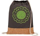 Cotton and Cork Drawstring Bag