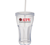 16 oz. Fountain Soda Tumbler with Straw