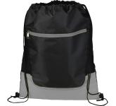Libra Front Zipper Drawstring Bag