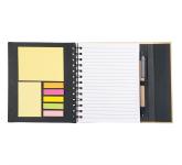 """6.5"""" x 7"""" Lock-it Spiral Notebook w/Pen"""