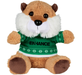 "6"" Ugly Sweater Plush Beaver"