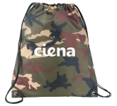 Camo Oriole Drawstring Bag