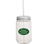 22 oz. Mason Jar with Silver Tin Lid