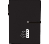 """4"""" x 5.5"""" Stretch Notebook with Pen"""