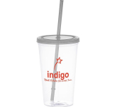 20 oz. Glacier Tumbler with Straw