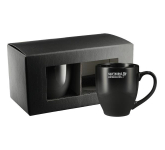 Bistro Ceramic Mug 2 in 1 Gift Set