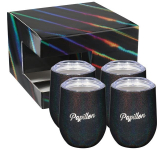 Iridescent Corzo Cup 12oz 4 in 1 Gift Set