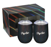 Iridescent Corzo Cup 12oz 2 in 1 Gift Set