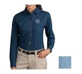 Port & Company Ladies' Long Sleeve Value Denim Shirt