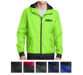 Sport-Tek Embossed Hooded Wind Jacket
