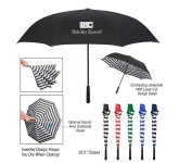 "48"" Arc Blanc Noir Inversion Umbrella"