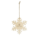 Wood Ornament - Snowflake