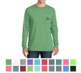 Port & Company Pigment-Dyed Long Sleeve Pocket Tee
