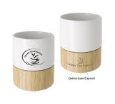 8 oz. Ceramic and Bamboo Mug