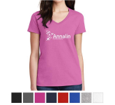 Gildan Ladies Heavy Cotton 100% Cotton V-Neck T-Shirt