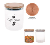26 Oz. Glass Container With Stainless Steel Lid