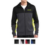 Sport-Tek Tech Fleece Colorblock Full-Zip Hooded Jacket