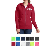 Port & Company Ladies Core Fleece Full-Zip Hooded Sweatshirt