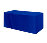 Fitted Poly/Cotton 3-sided Table Cover - fits 6' table