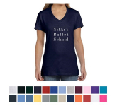 Hanes Ladies' Nano-T Cotton V-Neck T-Shirt
