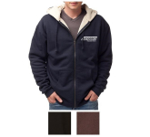 Independent Trading Company Men's Sherpa Lined Zip Hooded...