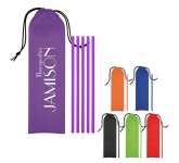 5-Pack On The Go Straws With Pouch