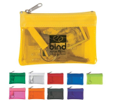 Translucent Zippered Coin Pouch
