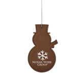 Leatherette Ornament - Snowman