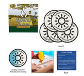 5-Pack Sunburn Alert UV Color-Changing Stickers With Cust...