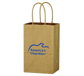"Kraft Paper Brown Shopping Bag - 5-1/4"" x 8-1/4"""