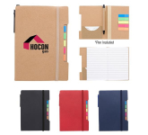 "4"" x 6"" Notepad With Sticky Flags And Pen"