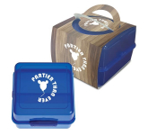 Split-Level Lunch Container With Custom Handle Box