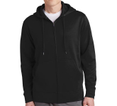 Sport-Tek Sport-Wick Fleece Full-Zip Hooded Jacket