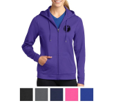 Sport-Tek Ladies' Sport-Wick Fleece Full-Zip Hooded Jacket